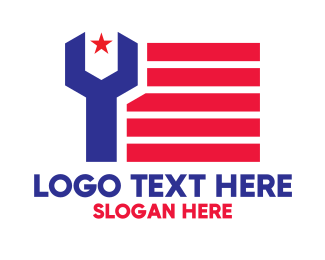 States - Patriotic Wrench logo design