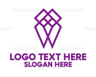 Dentistry - Purple Diamond logo design