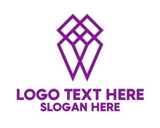 Tooth - Purple Diamond logo design