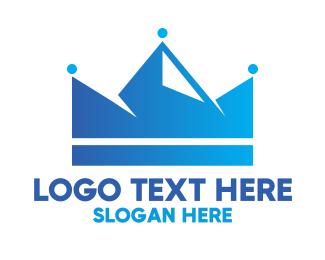 Visionary - Blue Crown Mountain logo design
