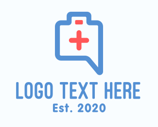 Skyblue - Emergency Paramedic Chat App logo design