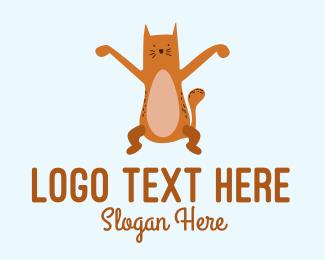 Playful - Playful Cat Letter X logo design