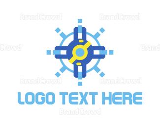 Rotate - Blue Sea Voyage logo design