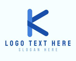 School - Kindergarten Letter K logo design