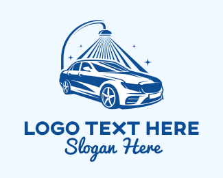 Auto Detailing - Sparkling Car Wash  logo design
