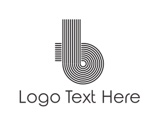 Curve - Abstract Letter B logo design