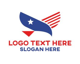 Politician - American Eagle Flag logo design