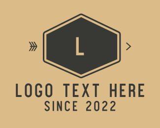 Boutique - Brown Hexagon logo design