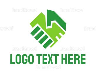 Hand - Green Hands logo design
