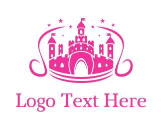 Fairy - Fairy Tail Castle logo design
