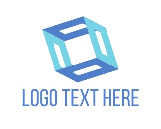 Open - Blue Box logo design
