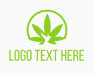 Vape - Cannabis Bird Circle logo design