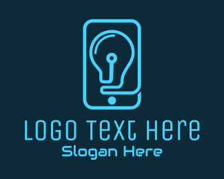 Mobile Devices - Blue Mobile Phone logo design