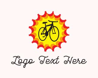Sunny - Bright Bike logo design