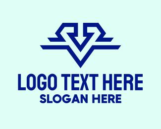 Twitch Stream - Letter V Emblem logo design