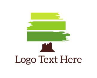 Brushstroke - Green Brushstroke  logo design