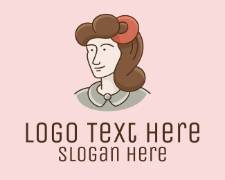 Cartoon - Vintage Woman Cartoon logo design