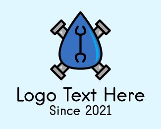 Plumbing - Water Plumbing Droplet logo design