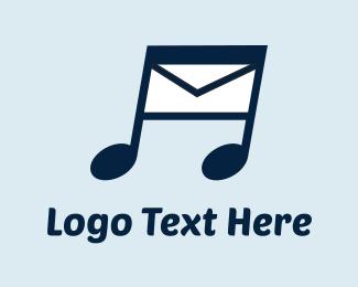Postcard - Music Message logo design