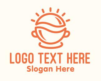 Eating - Orange Sunny Breakfast Bowl logo design