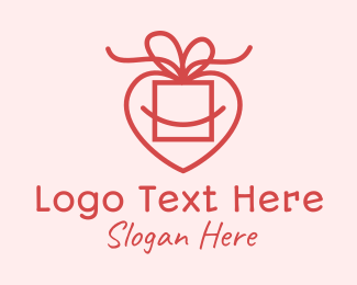 Wedding Proposal - Pink Heart Gift logo design