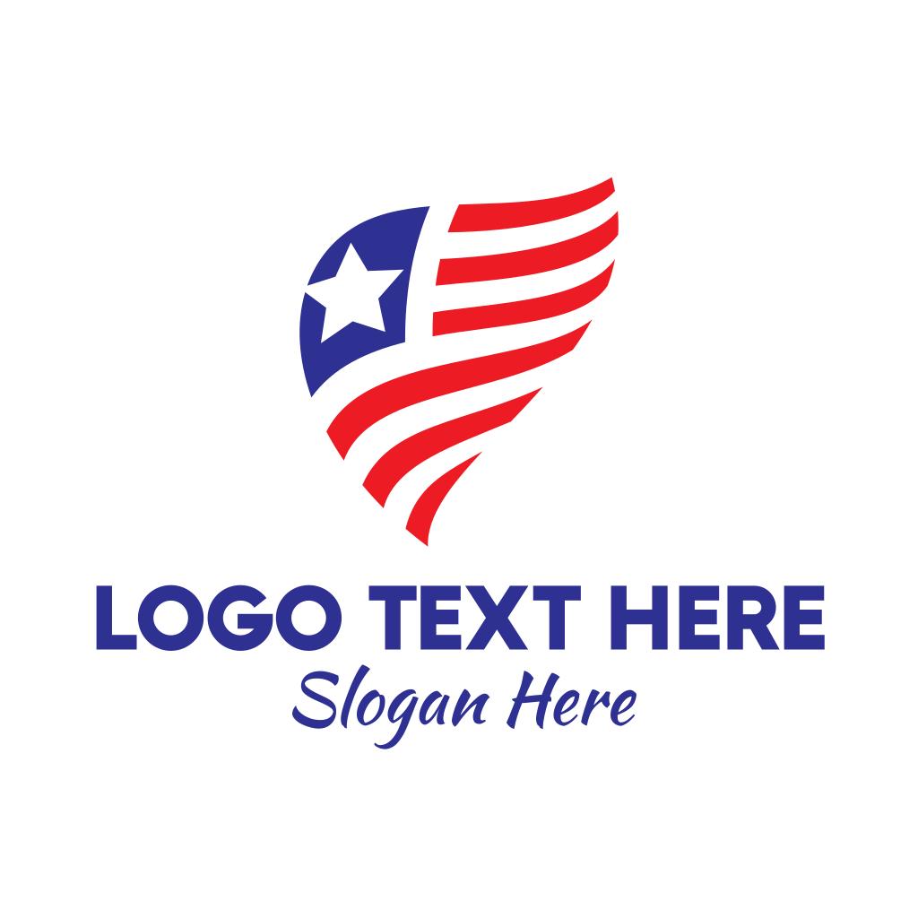 Simple American Flag Logo