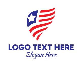 Simple - Simple American Flag  logo design