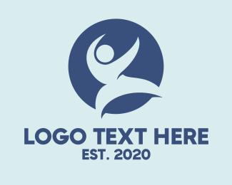 Varsity - Blue Karate logo design