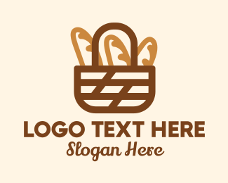 Basket - Fresh Bread Basket logo design