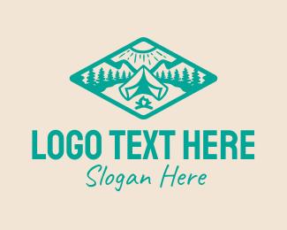 Trekking - Summer Camp Nature Park logo design