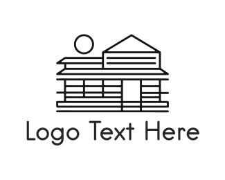 Villa - Black Cabin logo design