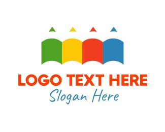 Sketch - Colorful Pencils logo design