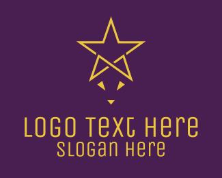 Simple - Yellow Star Fox  logo design