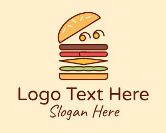 Food Cart - Burger Fast Food logo design