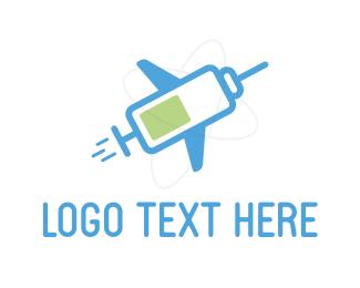Shot - Travel  Vaccination logo design