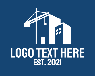 Crane - Property Construction Crane logo design