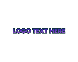 Gastro - Tech Purple Wordmark logo design