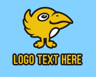 Cartoon - Yellow Cartoon Bird logo design