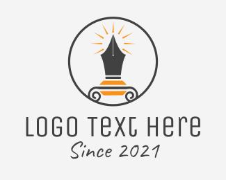 Vector - Circle Pen Publisher logo design