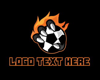 Football - Fire Soccer Football logo design