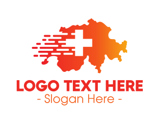 Switzerland - Switzerland Map logo design