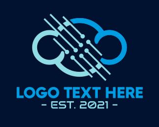 Wire - Blue Cloud Technology logo design