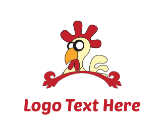 Hen - Chicken Cartoon logo design