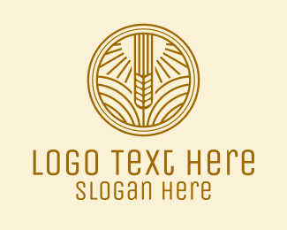 Oat - Minimalist Wheat Stalk  logo design