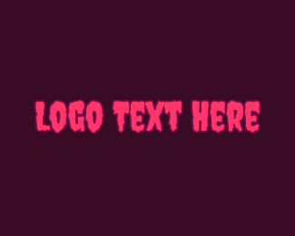Gooey - Creepy Wordmark Font logo design