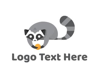 Racoon - Cute Raccoon logo design