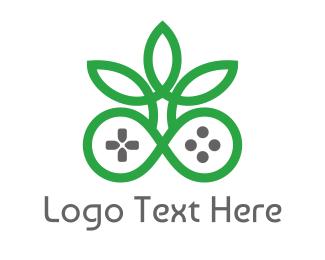 Cannabis Leaf - Green Cannabis Controller logo design