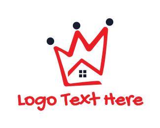 Interior Designer - Red Crown House logo design