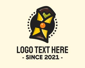 Taco - Mexican Burrito Wrap logo design
