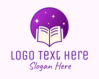 Learning - Starry Learning Book logo design